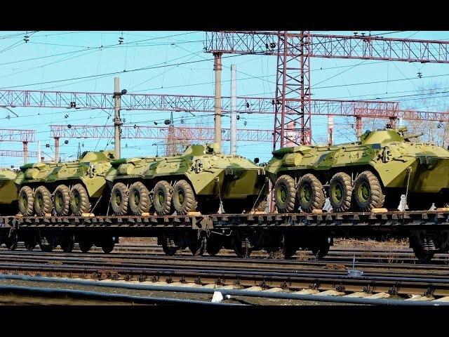 Перемирию конец: Огромный эшелон военной техники ВСУ.