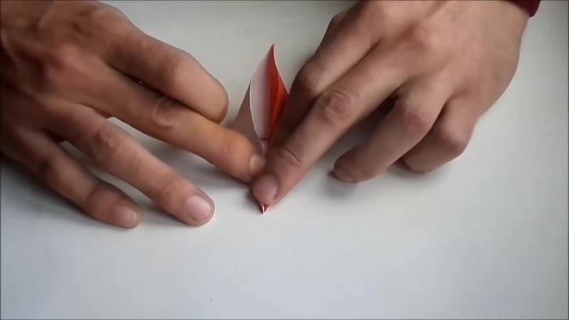 оригами цветок лилия из бумаги origami flower lily