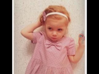Результат работы нашей ученицы на мастер-классе по пошиву детского платья!