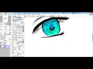 Рисуем аниме глаза и не только в саи(paint tool SAI)+ покрас