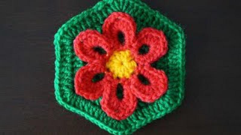 Шестиугольный мотив Цветок/ Hexagon motif