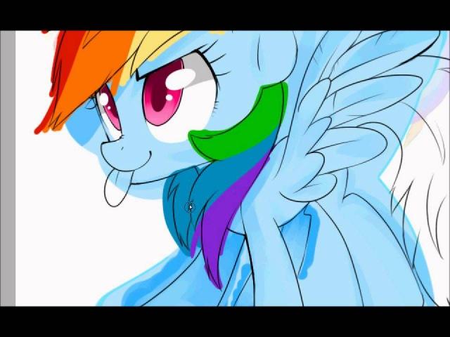 Rainbow Dash MLP FIM - speedpaint (remake)
