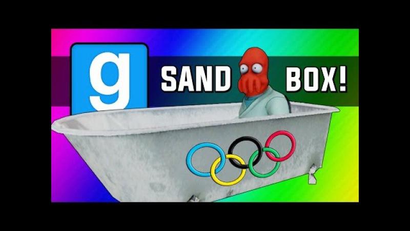 Gmod: Winter Olympics - Sled Build Race Chaos! (Garry's Mod Sandbox Funny Moments)