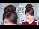 Everyday Fan Sock Bun Updo Hairstyle for Long Hair Tutorial