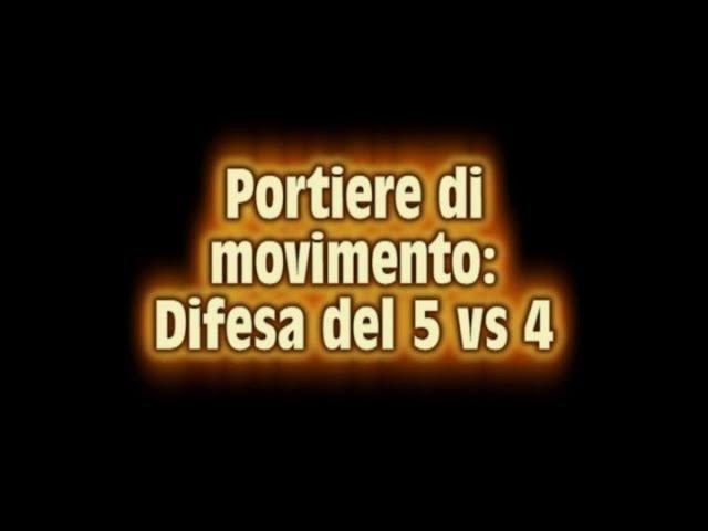 Tattica Futsal difesa del portiere di movimento (5vs4), difesa a zona