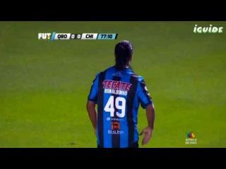 Ronaldinho vs Jaguares De Chiapas • Liga MX - Queretaro vs Jaguares De Chiapas 1-0 (08-05-2015)