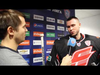 Сергей Широков пробует себя в качестве журналиста КХЛ-ТВ