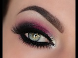 Holiday Berry Silver &amp Crystal Smokey Eye Tutorial
