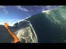 Garrett McNamara Teahupoo Tahiti 3 angles GoPro survived wipeout