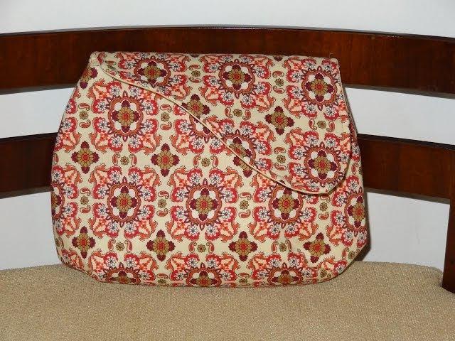 Bolsa carteira de tecido Ava. DIY. How to do, sew or make a fabric clutch. Fabric clutch tutorial
