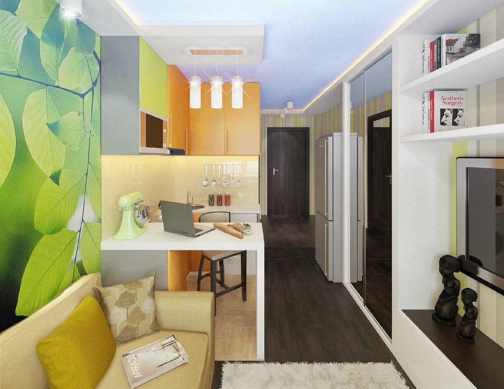 Проект квартиры-гостинки всего 15 м во Владивостоке.