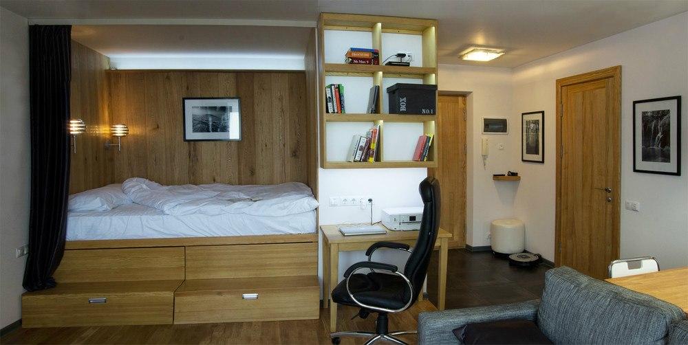 Квартира 38 м в стиле эко-минимализм.