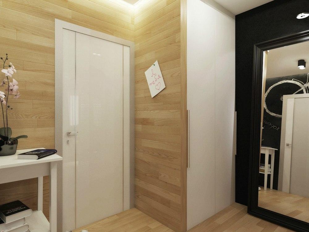 Перепланировка типовой 1-комнатной квартиры 49 м в студию в Нижнем Новгороде.