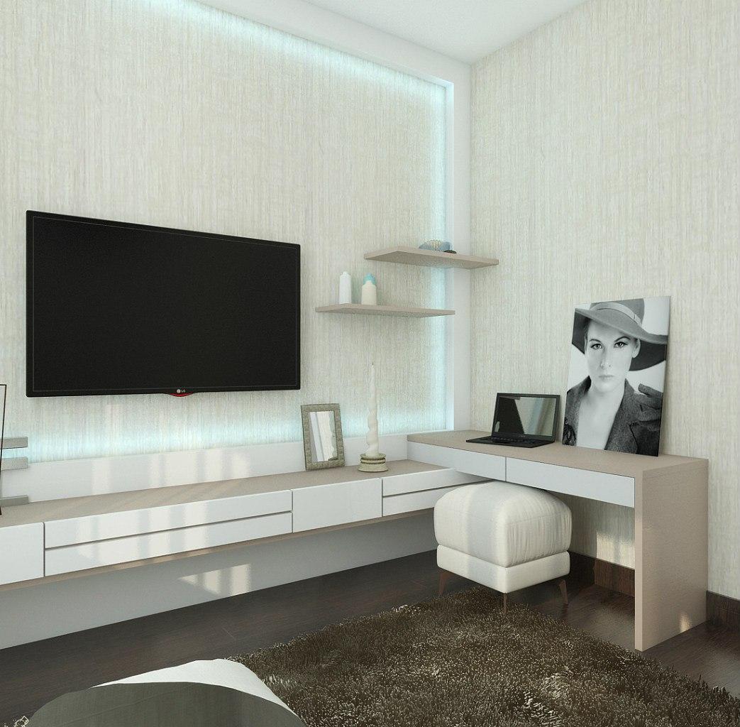 Проект квадратной студии 36 м от девелопера жилого района Академ Riverside в Челябинске.
