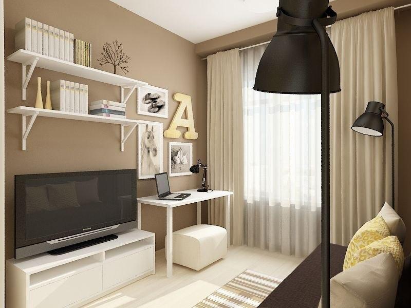 Дизайн-проект квартиры почти 28 м для молодой пары.