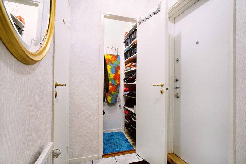 Маленькая скромная студия 22 м в небольшом шведском городе.