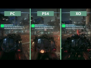 Сравнение графики Batman: Arkham Knight на PC, PS4 и Xbox One