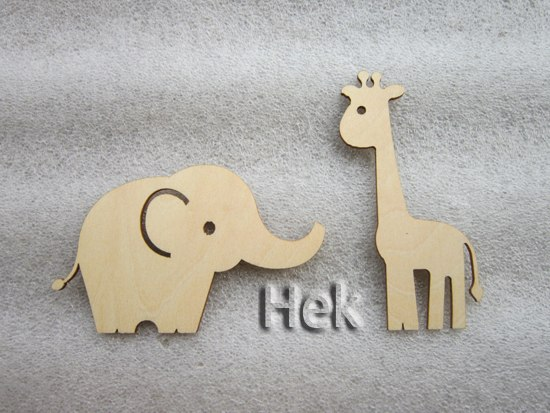 animals laser cutting on plywood