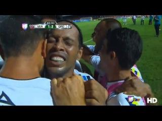 Ronaldinho Llora luego de marcar gol - Veracruz vs Queretaro 2-2 (Liga MX 17-05-2015)