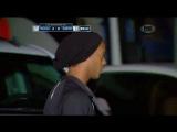 Ronaldinho se fue del Estadio Hidalgo antes de terminar el partido entre Pachuca vs Queretaro 2015