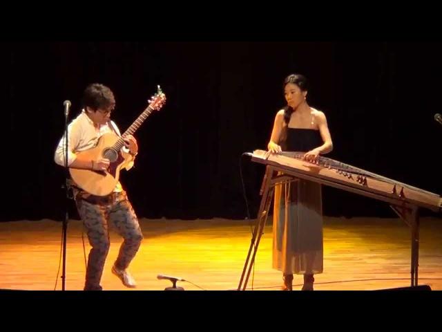 Korean folk song 'Ong Hei Ya' jamming Luna and Shuji Hata