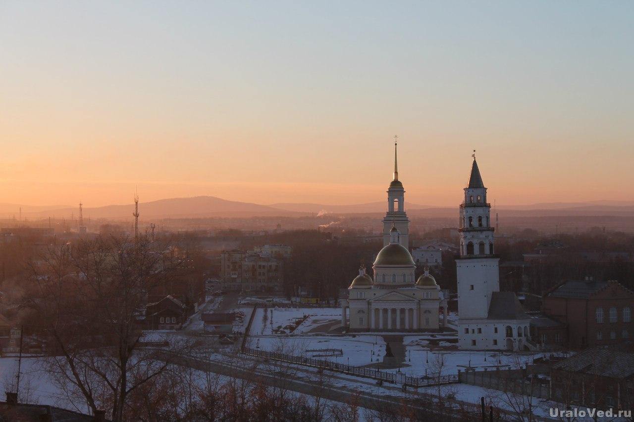 Невьянск в лучах заходящего солнца