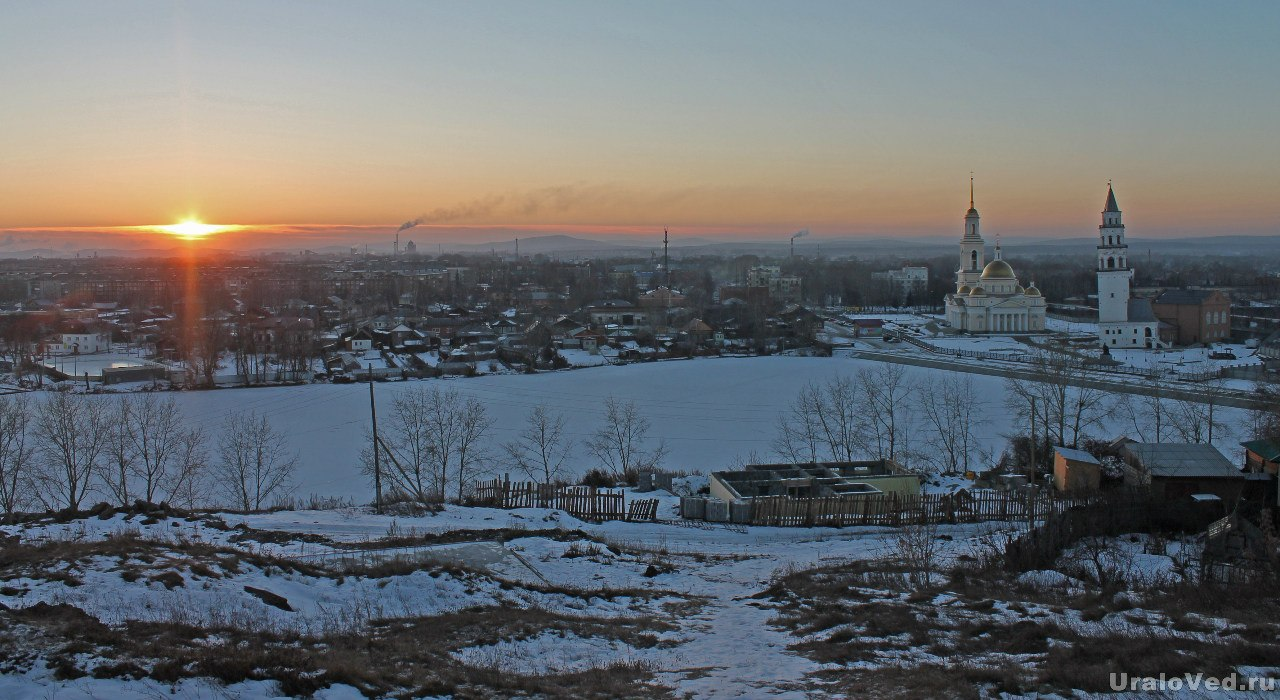 Закат в Невьянске