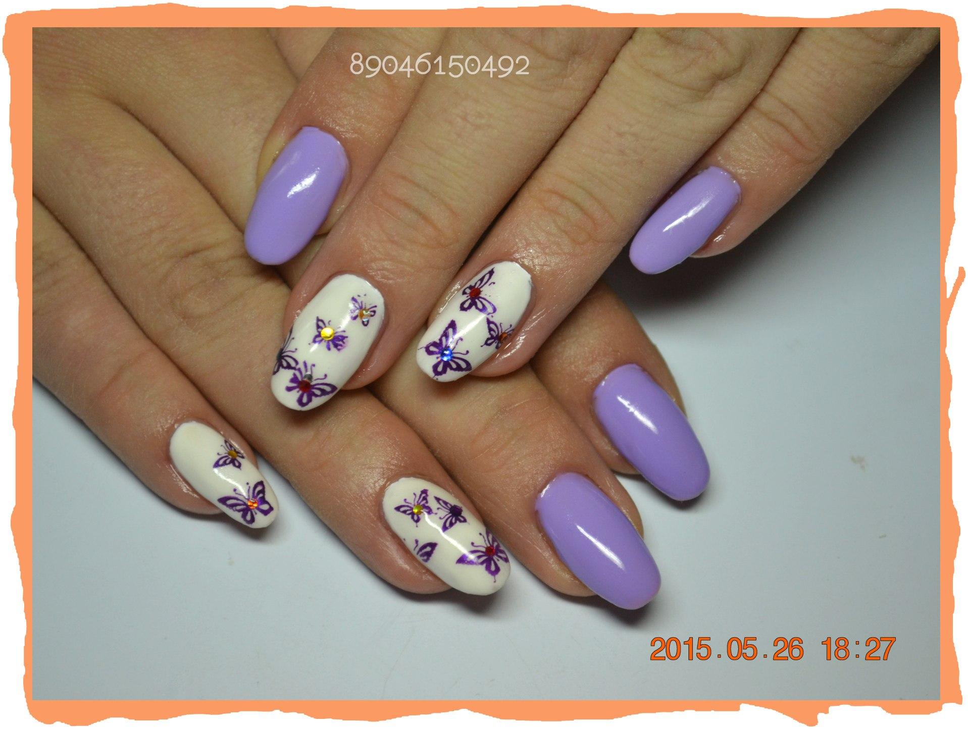 Фото рюшей на ногтях