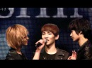 Fancam 110220 Onew funny face Taemin incites Minho to stare at Key @ Santafe Special Event