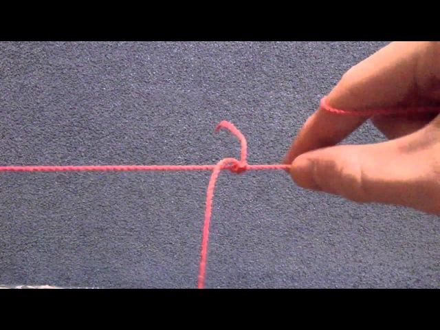 Как привязать поводок к основной леске (Рыболовный узел)