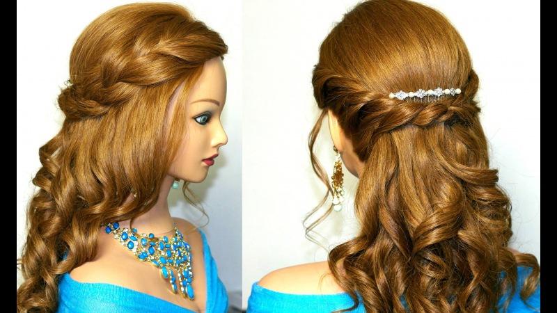 Причёски на длинные волосы на выпускной вечер. Фото №8