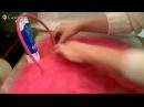 Валяние Раскладываем сумку с отделениями с карманом и приваливаем ручки
