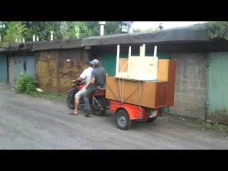 мотоцикл Тула 200 тмз 5.952 с прицепом Енот