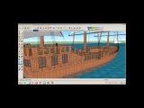 3d model ship sketchup HD
