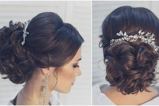 Прическа к свадьбе на средние волосы своими руками