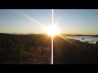 Полярный день. Ночная панорама Мурманска. 30.06.2015г.