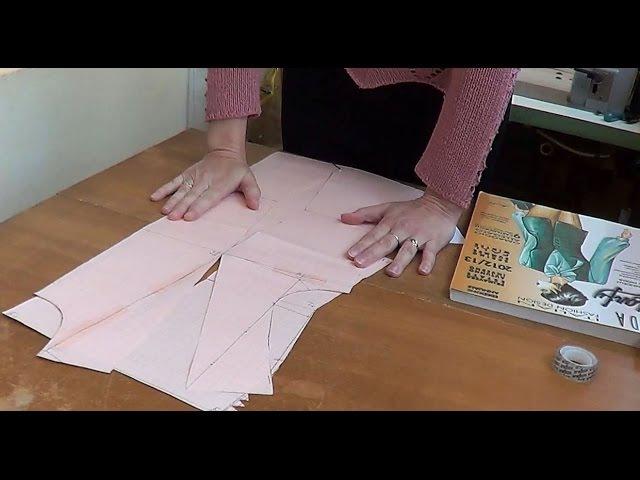 Моделирование лифа Перемещение нагрудной вытачки в плечевой срез