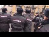 Задержание провокатора на митинги памяти Немцова.