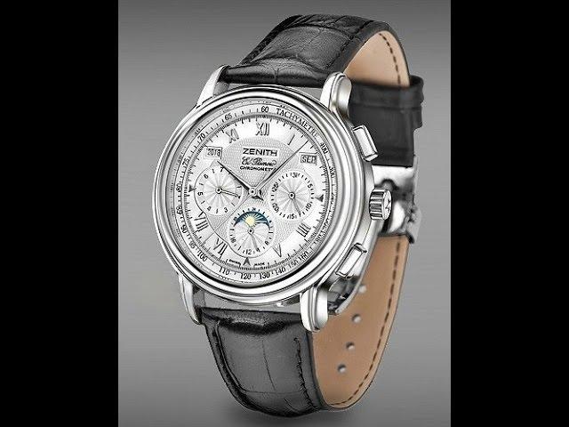 Часы Зенит. Zenith El Primero Chronometre Silver White