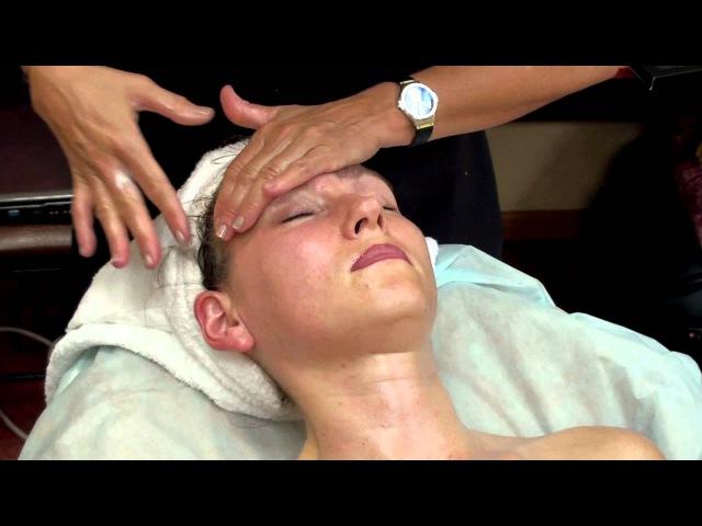 Массаж лица испанкой - техникой косметикой MayStar