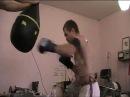 Скоростно - силовая работа боксера на груше