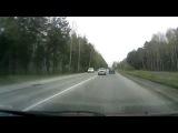 Обгон через сплошную - Снежинск 8 мая 2015