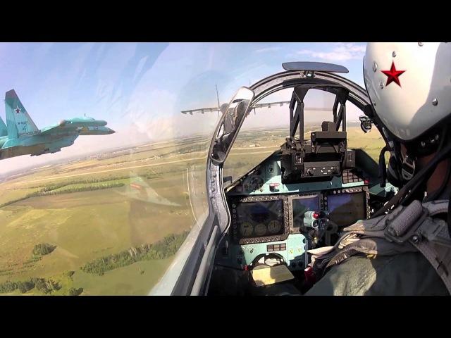 Высший пилотаж Су 27СМ и Су 34 с камер GoPro