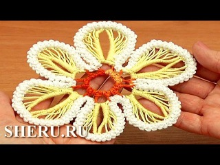 How to Make Flower Romanian Point Lace Урок 63 Румынское кружево