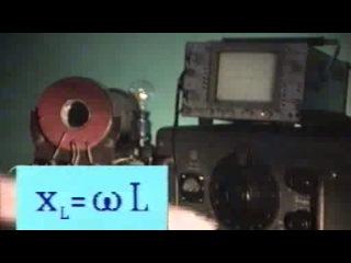 027. Катушка индуктивности в цепи переменного тока.
