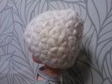 Вязаная Шапка узором Звездочки старая версия Crochet hat Star stitch pattern
