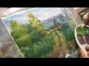 Видео урок рисуем летний пейзаж гуашью с Dari Art