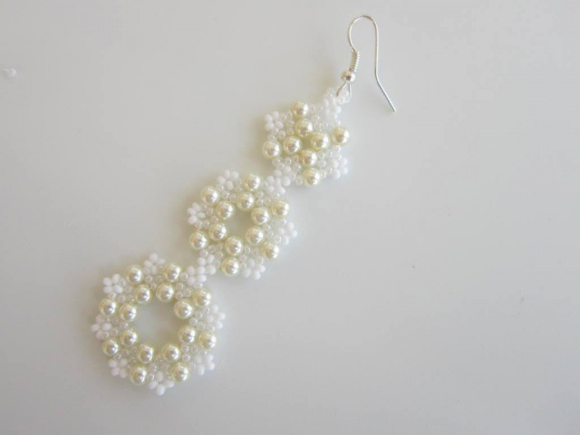 Lace Beaded Earrings The same pattern Earrings