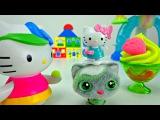 Видео для детей. Китти и Тося - готовим венскую вафлю. Играем с Play-Doh. Развивающее видео.