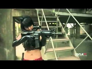 Sexy Asian girls fight with guns to the Death.